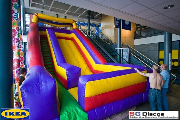 Bouncy Slide in IKEA